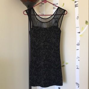 Free People Black and Gold dress